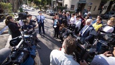 Acting SuperintendentSam Crisafulli speaking to the media on Friday.