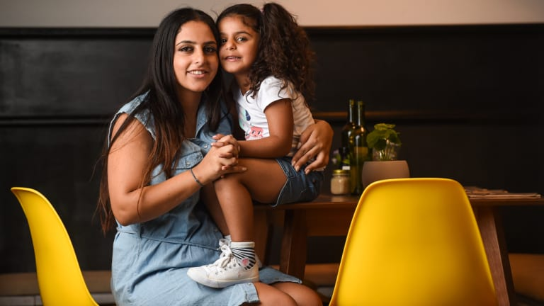 Hanna Kadi, with her daughter Elissa Hatoum, in the Albury cafe she owns with her brother.