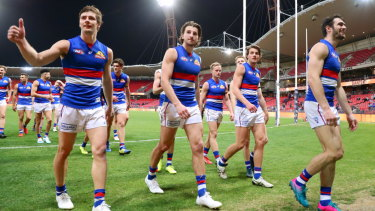 Best in show: The Bulldogs proved their pedigree with a thumping win over the Giants.