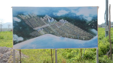 Sealong Bay hotel development near Ream Naval base: another construction on an empty field.