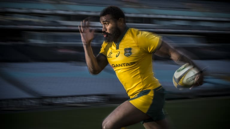 Speed to burn: Koroibete will stick around in Australian rugby for another year.