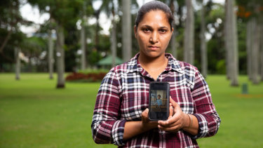 Gurvinder Kaur is appealing for help to get her son back from India.
