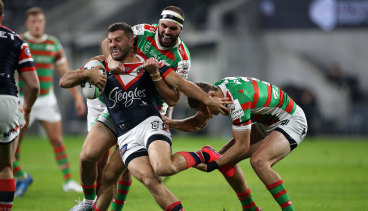 James Tedesco was the driving force behind the Roosters' emphatic win over arch-rivals South Sydney.