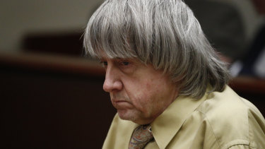 David Turpin sits in court on Friday for sentencing.