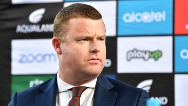 South Sydney boss Blake Solly appears to consider himself a future NRL CEO.