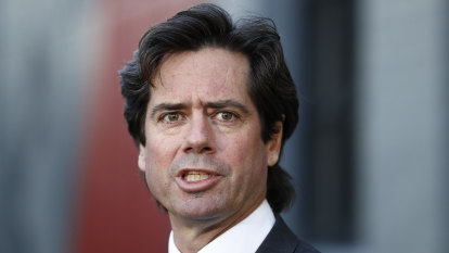 Scrawl order: Anti-lockdown spray hits home for AFL boss