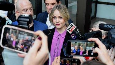 Eryn Jean Norvill outside court in April.