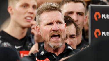 Collingwood coach Nathan Buckley