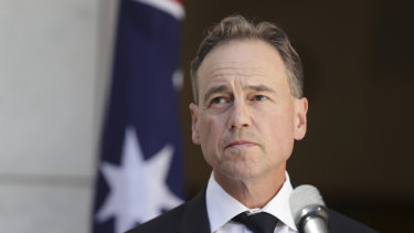 """Health Minister Greg Hunt: """"Each and every day, all of our chief health medical officers review travel bans as this develops. They have been frank and fearless."""""""