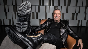 Jimmy Barnes: Relaxed, happy ... and hyperactive.