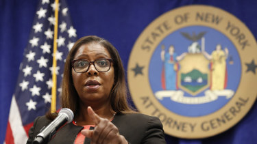New York State Attorney General Letitia James. Most US states have joined the lawsuit against Facebook.
