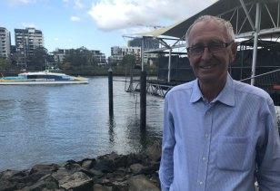 Drift Restaurant owner and director Ken Allsop on the river at Milton.