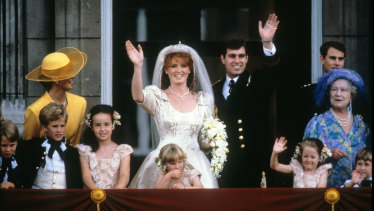 Not so happily ever after:  Prince Andrew together with his bride Sarah Ferguson in July 1986.