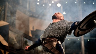 A performance of Macbeth at one of the earlier incarnations of the Pop-Up Globe.
