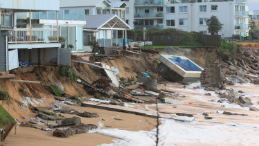 After a big storm in 2016, houses sitting on the beachfront at NSW's Collaroy washed away.