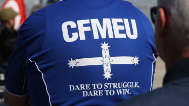 The CFMEU quit Labor's left faction just months before the October 31, 2020 election.