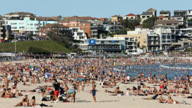 Hordes of people gathered at Bondi Beach, prompting the government to order the beach closed.