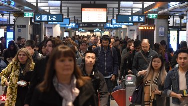 The incident at Town Hall caused major delays for hours across the rail network.