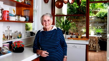 Margaret Fulton in her kitchen in 2012.