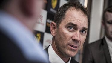Justin Langer is the new Australian men's cricket coach.