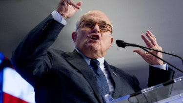 Rudy Giuliani launched a fresh defense of the US President on Monday.