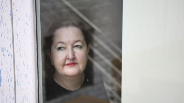 Powerhouse Museum CEO Lisa Havilah enjoys a window view at the Dolphin Hotel.