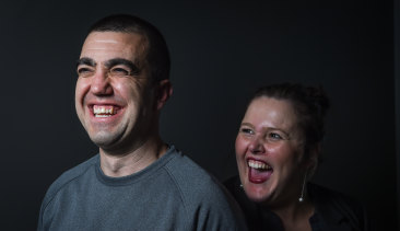 Faruk Orman, a free man, and his lawyer Ruth Parker.