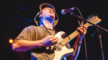 Mac Demarco reels in the crowd at Festival Hall.
