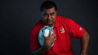 Toutai Kefu as head coach of Tonga at the 2019 World Cup in Japan.