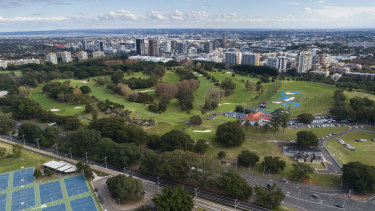 Moore Park Golf Course in inner Sydney sits on government-owned land.