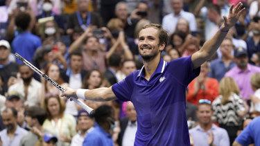 Daniil Medvedev vanquished Novak Djokovic in his quest for the calendar grand slam.