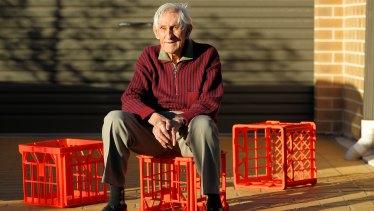 Geoff Milton, the inventor of Dairy Farmers'  plastic milk crates.