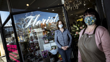 "Annette Duff and Fiona Bens of Irelands Florist in Sunbury say ""click and collect"" business is booming."