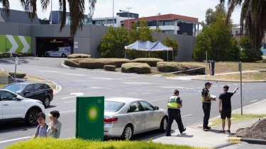 The young woman was found unresponsive outside the Polaris shopping centre on Wednesday morning.