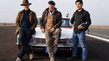 Mythbusters hosts Adam Savage, Jamie Hyneman andGrant Imahara