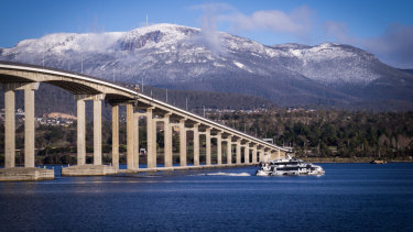 A bridge too far? The Tasman Bridge near Hobart.