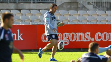 Ricky Stuart during NSW training.
