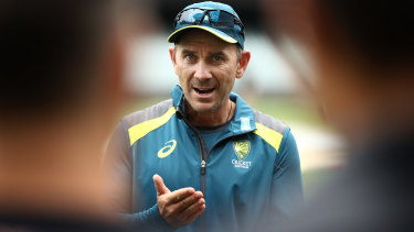 Justin Langer famous intensity has become infamous of late.