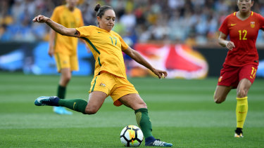 Kyah Simon has been named in a youthful 23-strong Matildas squad for matches against Chile next month.
