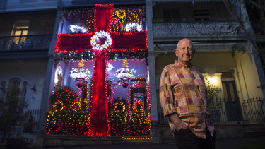 Bruce Pollack has decked out his Paddington home with Christmas lights.