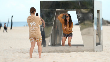 The Swell Festival sculptures have attracted a lot of interest on the Gold Coast.