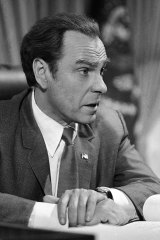 """Rip Torn plays Richard Nixon during the filming of """"Blind Ambition,"""" an eight-hour film for television. Award-winning television, film and theater actor Torn has died at the age of 88, his publicist announced Tuesday, July 9, 2019."""
