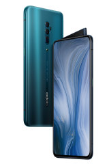 The oppo Reno 5G has a fin-like pop-up camera.