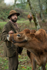 John Magaro as Cookie in First Cow.