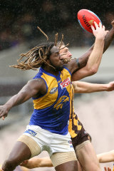 Nic Naitanui faces a tough contest tonight.