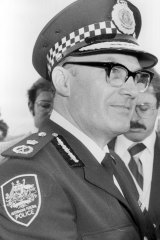 Sir Colin Woods, the first commissioner of the Australian Federal Police, in September 1979.