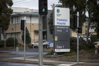 At least 50 healthcare workers have been infected with coronavirus as a major outbreak sweeps through Frankston Hospital.