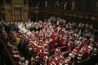 The unelected members of the House of Lords technically have the power to block legislation.