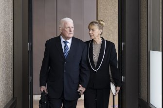 Ben Roberts-Smith's parents, Len and Sue, at the NSW Federal Court.