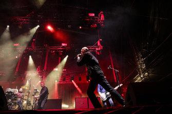 Midnight Oil perform in Sydney's Domain in November 2017.